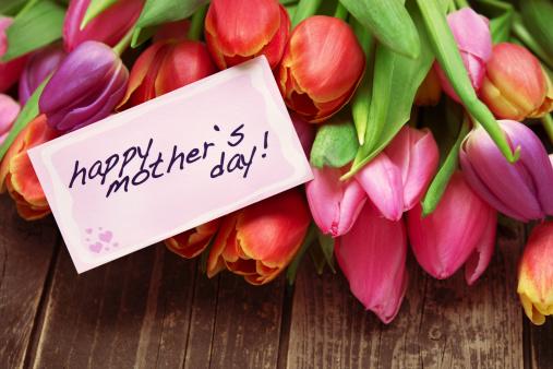 母の日「美しいフラワーブーケと morhers の日のカード」:スマホ壁紙(15)