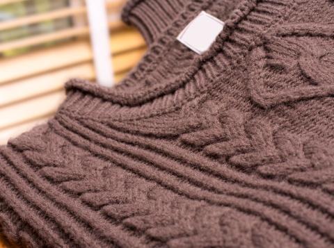 Sweater「Brown knitted patterned woolen Jersey」:スマホ壁紙(5)