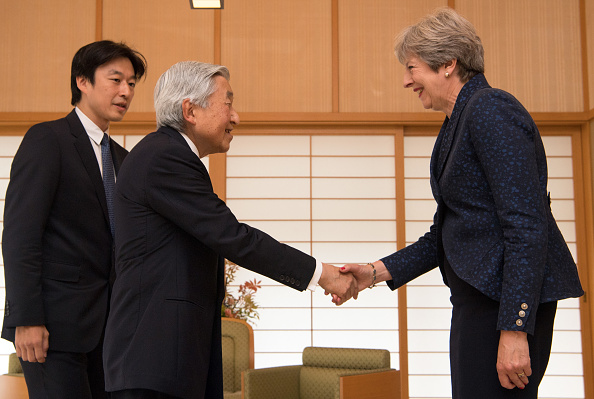 Emperor Akihito「Theresa May's First Official Visit To Japan As Prime Minister - Day Three」:写真・画像(19)[壁紙.com]