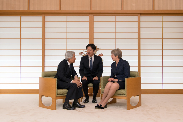 Emperor Akihito「Theresa May's First Official Visit To Japan As Prime Minister - Day Three」:写真・画像(1)[壁紙.com]