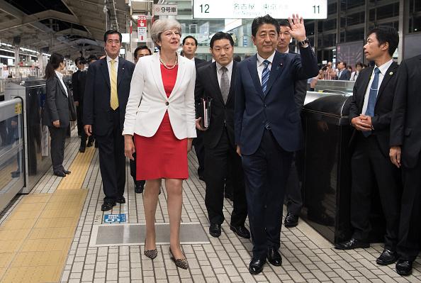 鉄道・列車「Theresa May's First Official Visit To Japan As Prime Minister - Day One」:写真・画像(5)[壁紙.com]