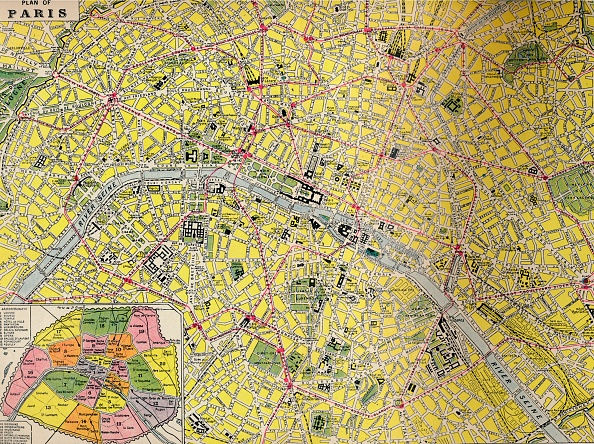 Full Frame「Plan Of Paris - Central District Of The City Of Light」:写真・画像(17)[壁紙.com]