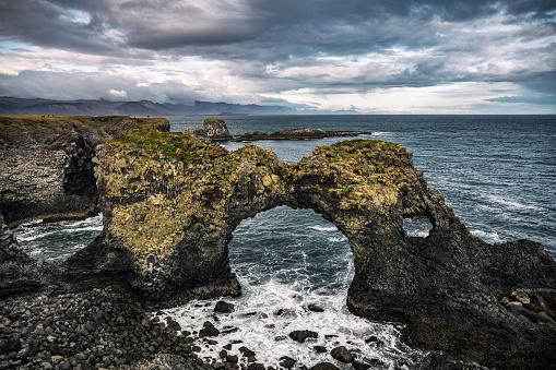 Arnarstapi「Gatklettur arched rock in Iceland」:スマホ壁紙(6)