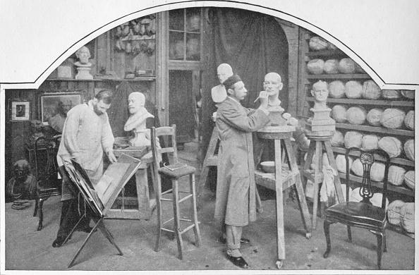 Madame Tussauds「Preparing models at Madame Tussaud's, London, c1903 (1903)」:写真・画像(5)[壁紙.com]