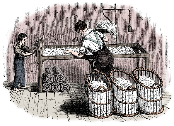 Engraving「Cotton Manufacture」:写真・画像(4)[壁紙.com]
