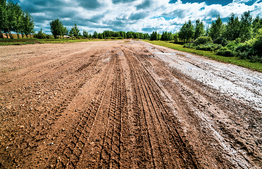 Dirt Road「road」:スマホ壁紙(3)