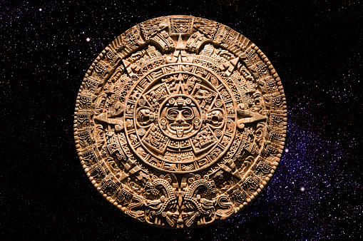 Ancient Civilization「Aztec calendar stone carving in space」:スマホ壁紙(19)