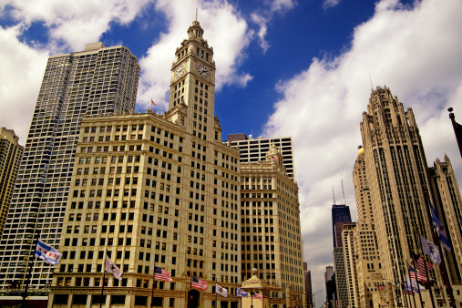 Tribune Tower「Gothic American Downtown Chicago」:スマホ壁紙(11)