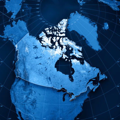 Hudson Bay「Canada Topographic Map」:スマホ壁紙(3)