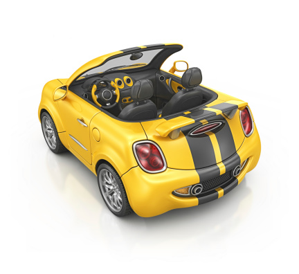 Cartoon「yellow bee roadster」:スマホ壁紙(17)