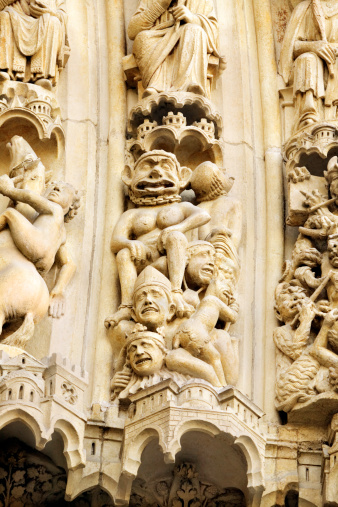 Hell「Relief figures depicting hell on Notre Dame Cathedral, Paris」:スマホ壁紙(10)