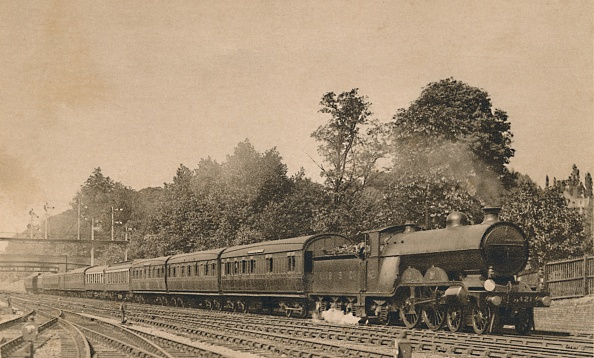 Passenger Train「Down Brighton Express Near South Croydon Engine 4-4-2」:写真・画像(15)[壁紙.com]