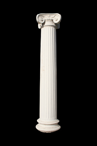 Greek Culture「A picture of a white column against a black background」:スマホ壁紙(19)