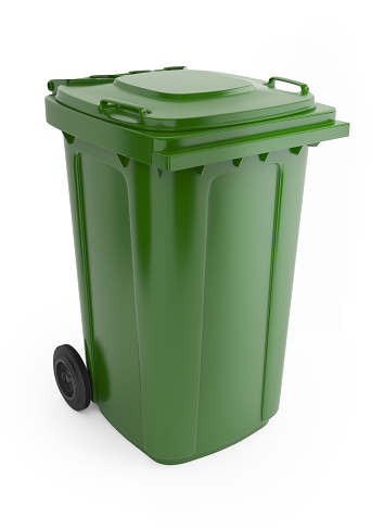 Environmental Conservation「A picture of a large green rubbish bin with wheels on 」:スマホ壁紙(17)