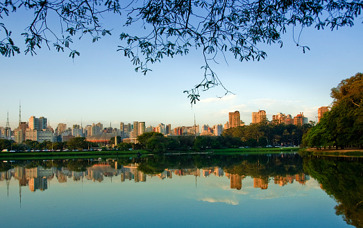 São Paulo「Picture of Sao Paulo, Brazil, skyline taken from a lake」:スマホ壁紙(14)