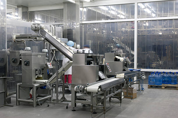 Picture of production line in the food factory:スマホ壁紙(壁紙.com)