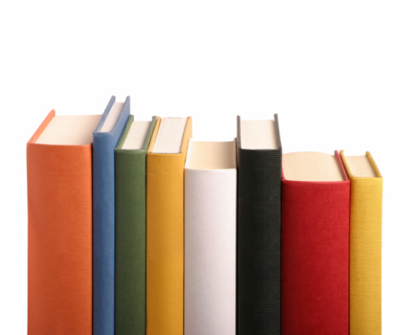 Book Spine「Books different colours in a row」:スマホ壁紙(5)