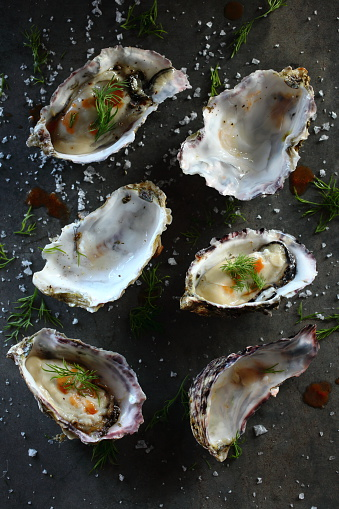 Food Styling「Elevated view of Prepared Oysters」:スマホ壁紙(7)