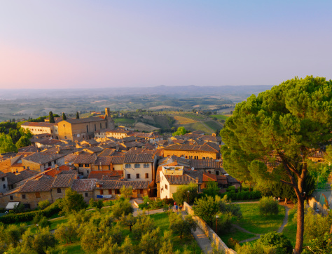 Tuscany「Elevated view of San Gimignano.」:スマホ壁紙(10)