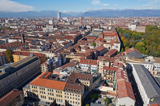 Piedmont - Italy「Elevated view of Turin and the Alps」:スマホ壁紙(11)