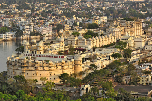 Rajasthan「Elevated view of City Palace hote」:スマホ壁紙(1)