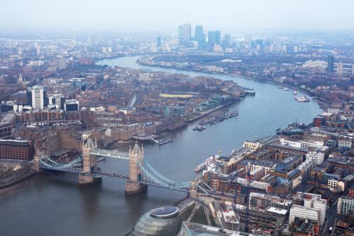London Bridge - England「Elevated view of East London」:スマホ壁紙(11)