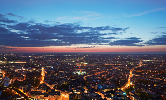 Germany「Elevated view of Berlin at twilight」:スマホ壁紙(13)