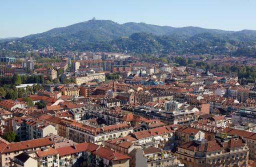 Piedmont - Italy「Elevated view of Turin at midday」:スマホ壁紙(17)