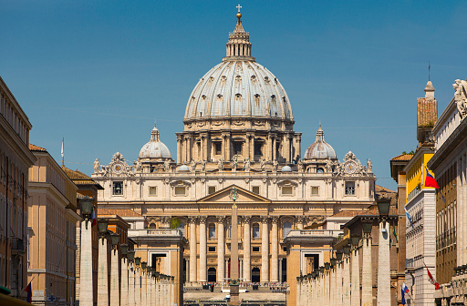 Cathedral「Vatican with St Peter's Basilica, Rome, Italy」:スマホ壁紙(2)