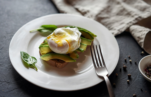Poached Food「Avocado on toast with poached egg」:スマホ壁紙(4)