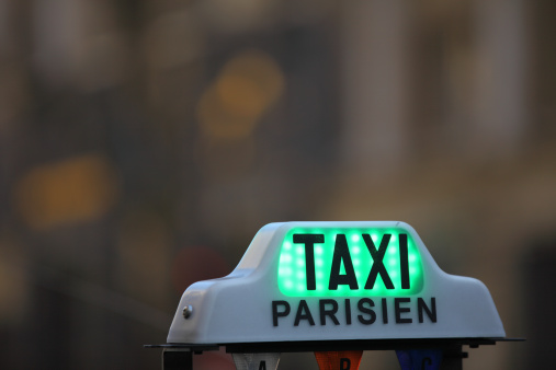 英字「Sign on a Paris taxi」:スマホ壁紙(18)