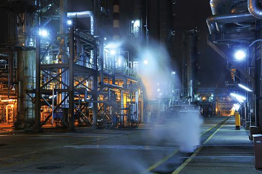 工場 夜景「石油化学プラント」:スマホ壁紙(5)