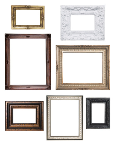 Carving - Craft Product「Various empty classical frame collections」:スマホ壁紙(7)