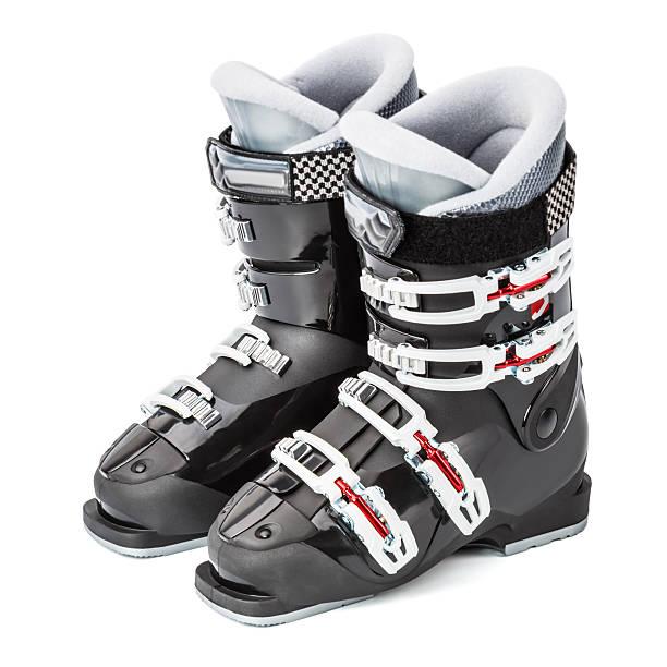 Ski boots, isolated on white background:スマホ壁紙(壁紙.com)