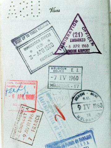 Belgium「Vintage Passport Stamps」:スマホ壁紙(5)