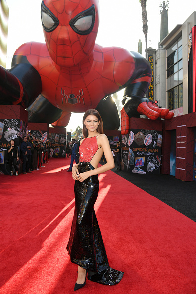 """Zendaya Coleman「Premiere Of Sony Pictures' """"Spider-Man Far From Home""""  - Red Carpet」:写真・画像(12)[壁紙.com]"""