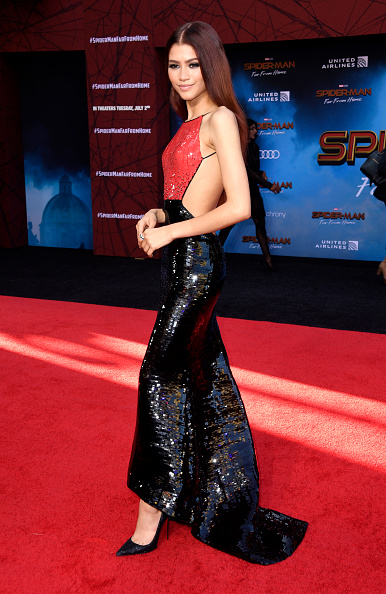 """Zendaya Coleman「Premiere Of Sony Pictures' """"Spider-Man Far From Home""""  - Arrivals」:写真・画像(11)[壁紙.com]"""