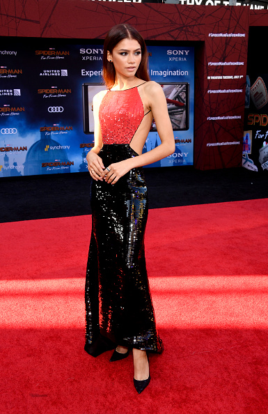 "Zendaya Coleman「Premiere Of Sony Pictures' ""Spider-Man Far From Home""  - Arrivals」:写真・画像(12)[壁紙.com]"