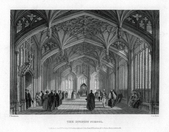 Ceiling Fan「The Divinity School, Oxford, 1837.Artist: John Le Keux」:写真・画像(4)[壁紙.com]