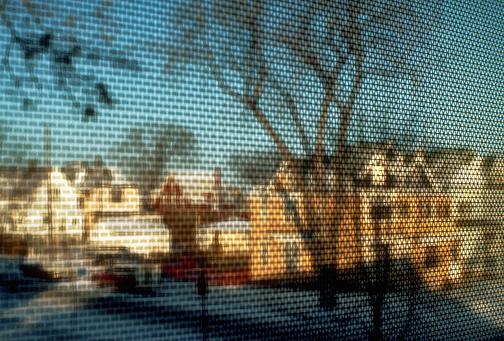 Minnesota「Winter Neighborhood Through Window Screen」:スマホ壁紙(19)