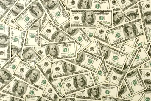 Number 100「$100 bills background」:スマホ壁紙(10)