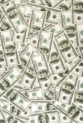 Number 100「$100 bills background」:スマホ壁紙(19)