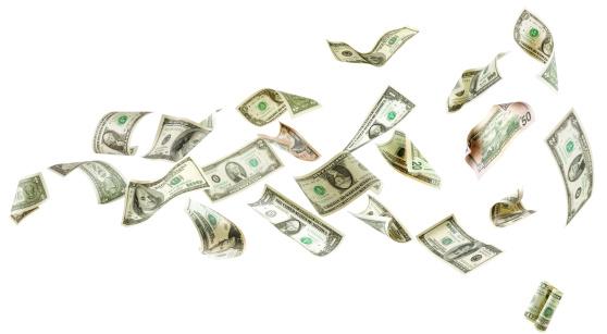 American One Hundred Dollar Bill「Flying money」:スマホ壁紙(13)