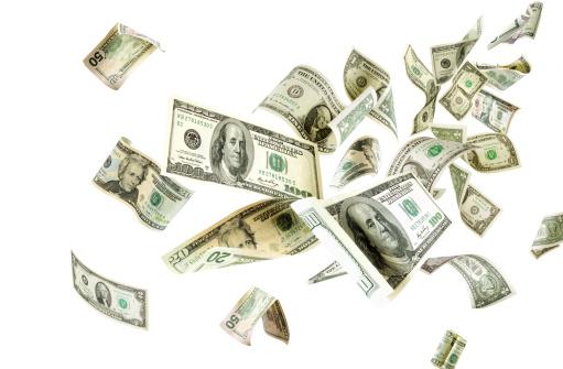 American One Hundred Dollar Bill「Flying money」:スマホ壁紙(16)