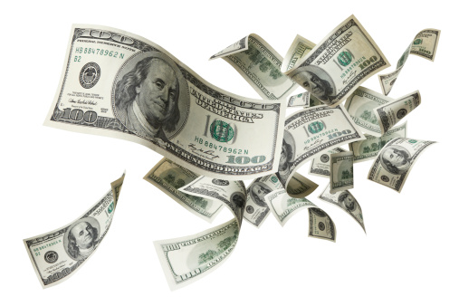 US Paper Currency「flying money」:スマホ壁紙(1)
