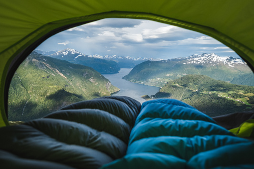 Hiking「Norwegian fjord viewed from tent.」:スマホ壁紙(12)