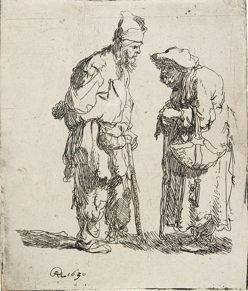 17th Century「Beggar Man And Beggar Woman Conversing」:写真・画像(1)[壁紙.com]