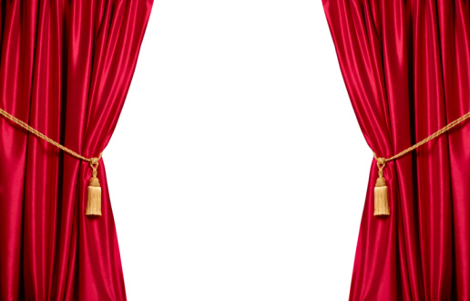 Curtain「Red stain theatre curtains with white copy space」:スマホ壁紙(2)