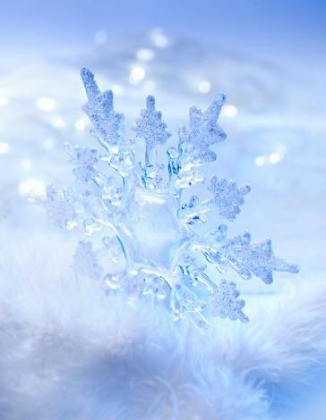 雪の結晶「スノーフレーククリスマスオーナメント」:スマホ壁紙(5)