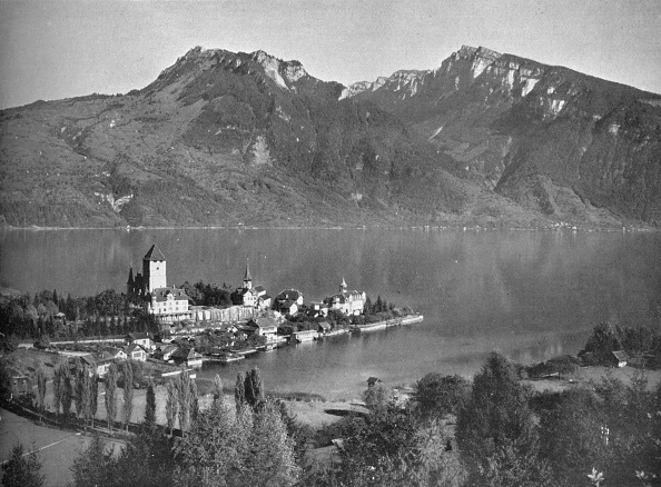 Travel Destinations「Spiez, On Lake Thun, 1910」:写真・画像(7)[壁紙.com]
